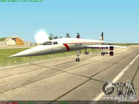 Concorde [FINAL VERSION] for GTA San Andreas right view