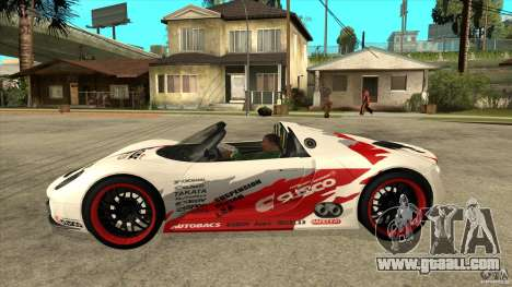 Porsche 918 Spyder Consept for GTA San Andreas left view