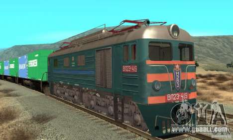 Locomotive VL23-419 for GTA San Andreas left view