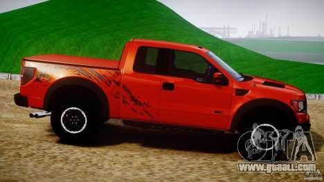 Ford F150 SVT Raptor 2011 for GTA 4 side view