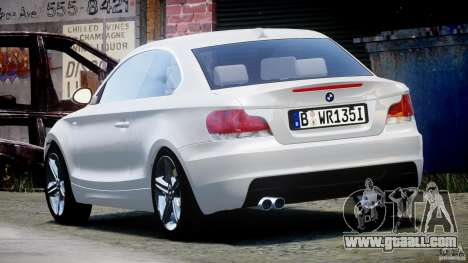 BMW 135i Coupe 2009 [Final] for GTA 4 back left view