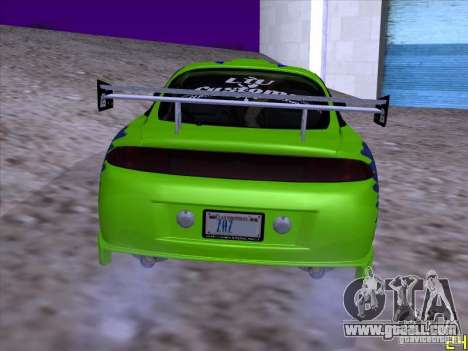 Mitsubishi Eclipse 1998 - FnF for GTA San Andreas right view