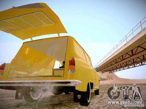 GAS 22B Van for GTA San Andreas inner view