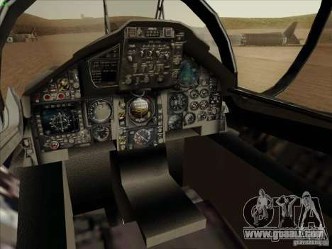F-15 SMTD for GTA San Andreas inner view