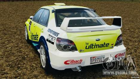 Subaru Impreza WRX STI N12 for GTA 4 back left view