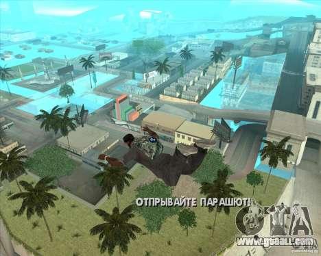 Parachute Rockstar (camouflage) for GTA San Andreas second screenshot
