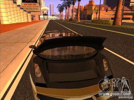 Lamborghini Gallardo Underground Racing for GTA San Andreas upper view
