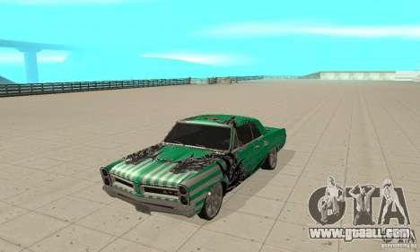 Pontiac GTO 1965 Speed King-NFS Pro Street for GTA San Andreas left view