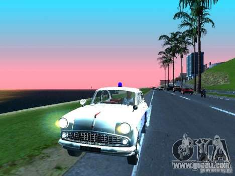 Moskvitch 403 with Police for GTA San Andreas left view