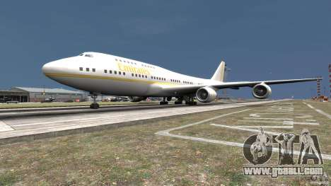 Real Emirates Airplane Skins Gold for GTA 4