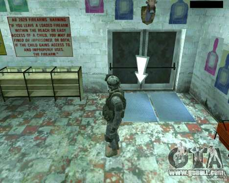 Skin infantryman CoD MW 2 for GTA San Andreas fifth screenshot