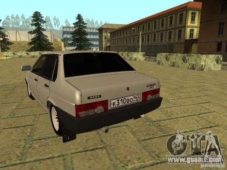 VAZ 21099 for GTA San Andreas back left view