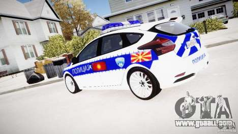 Ford Focus Macedonian Police for GTA 4 left view
