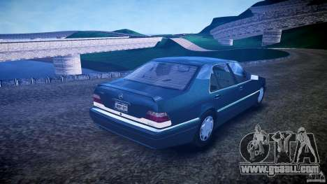 Mercedes Benz SL600 W140 1998 higher Performance for GTA 4 inner view