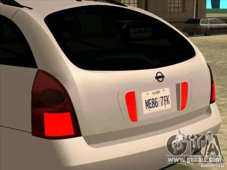 Nissan Primera Wagon for GTA San Andreas right view