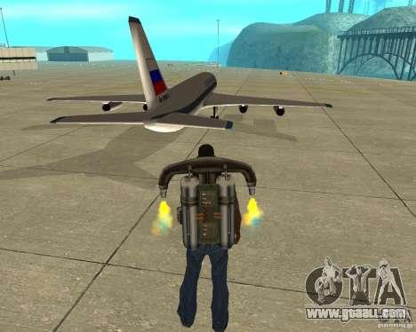 Ilyushin Il-86 for GTA San Andreas back left view