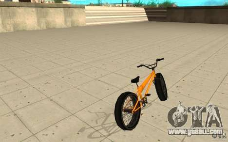 BMX Long Big Wheel Version for GTA San Andreas back left view