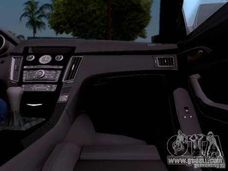 Cadillac CTS-V 2009 for GTA San Andreas interior