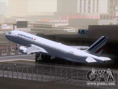 Airbus A320-211 Air France for GTA San Andreas inner view