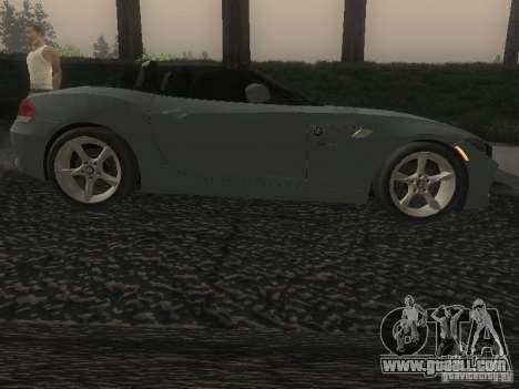 BMW Z4 for GTA San Andreas inner view