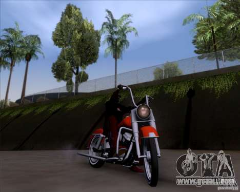 Harley-Davidson FL Duo Glide 1961 (Lowrider) for GTA San Andreas inner view