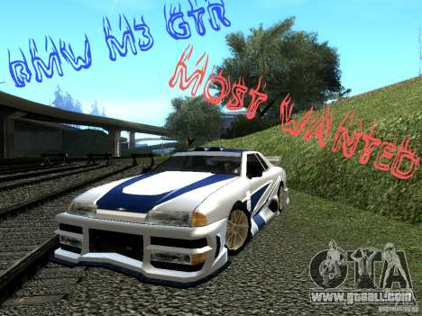 Vinyl with the BMW M3 GTR in Most Wanted for GTA San Andreas