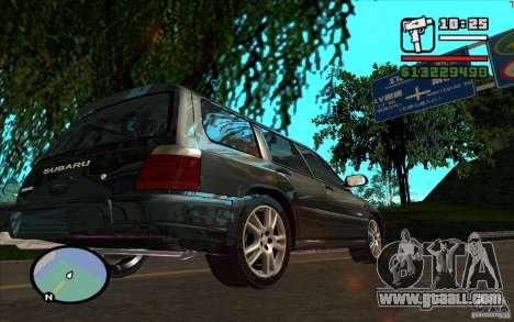 Subaru Forester for GTA San Andreas inner view