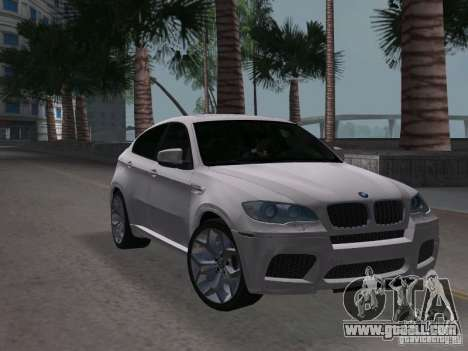 BMW X6M for GTA Vice City right view