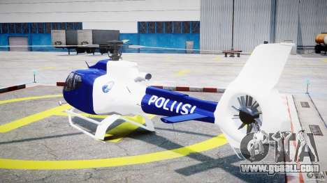 Eurocopter EC 130 Finnish Police for GTA 4 back left view