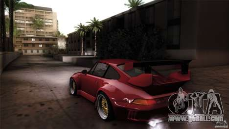 Porsche 993 RWB for GTA San Andreas left view