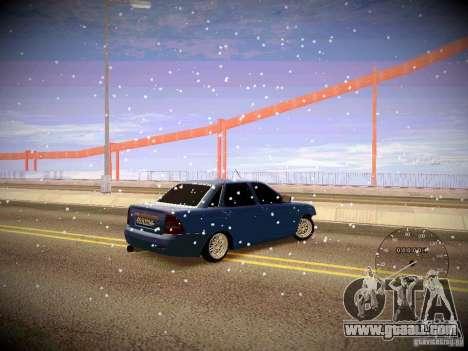 Lada Priora Turbo v2.0 for GTA San Andreas back view
