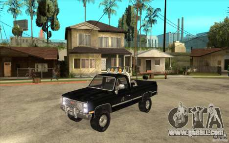 GMC Sierra 1986 FBI for GTA San Andreas