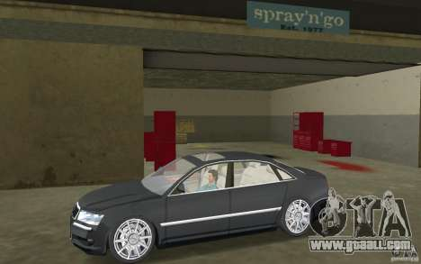Audi A8 for GTA Vice City back left view