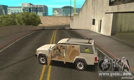 Jeep Grand Cherokee 1986 for GTA San Andreas interior
