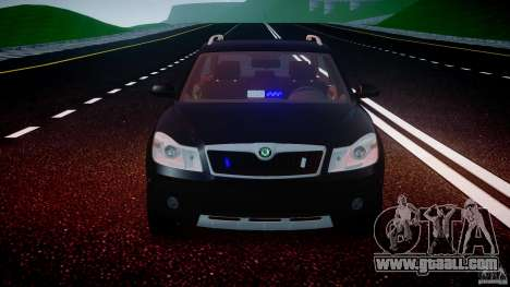 Skoda Octavia Scout Unmarked [ELS] for GTA 4 interior
