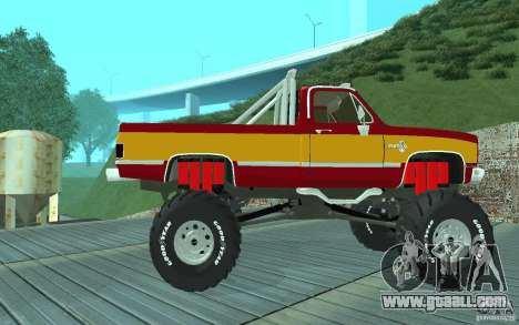 Chevrolet Silverado 2500 MonsterTruck 1986 for GTA San Andreas back left view