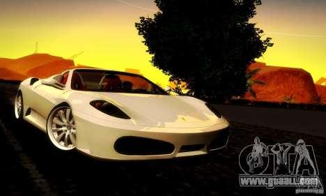 Ferrari F430 Spider for GTA San Andreas back left view