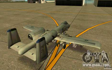 A-10 Warthog for GTA San Andreas right view