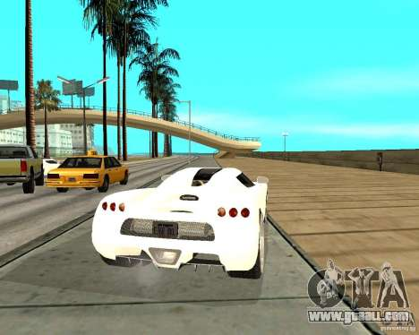 Koenigsegg CCRT for GTA San Andreas back left view