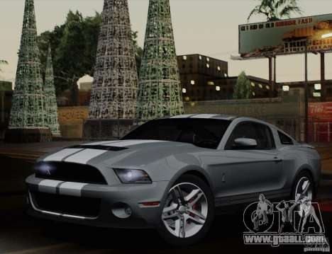 Ford Shelby GT500 2011 for GTA San Andreas left view