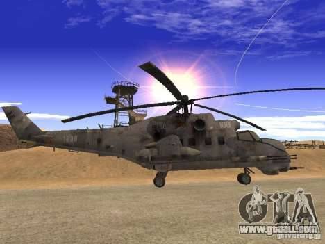 Mi-24 of COD MW 2 for GTA San Andreas left view