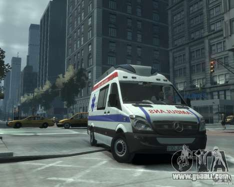 Mercedes-Benz Sprinter Azerbaijan Ambulance v0.1 for GTA 4 left view