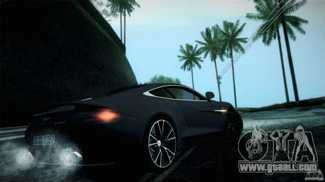Aston Martin Vanquish V12 for GTA San Andreas right view