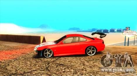 Nissan Silvia S15 for GTA San Andreas back view