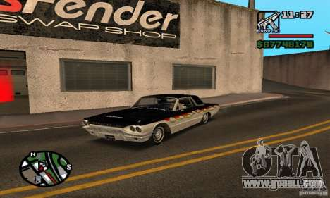 Ford Thunderbird 1964 for GTA San Andreas side view