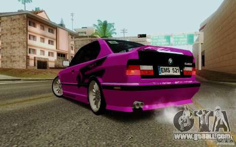 BMW E34 540i Tunable for GTA San Andreas upper view