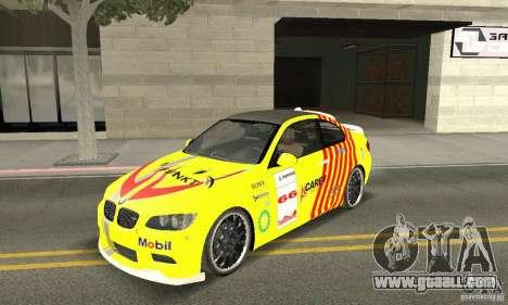 BMW M3 2008 Hamann v1.2 for GTA San Andreas interior