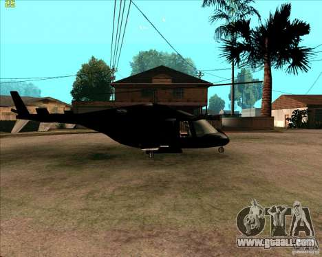 Airwolf for GTA San Andreas back left view
