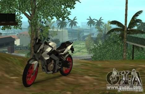 Bajaj Pulsar 200NS 2012 for GTA San Andreas