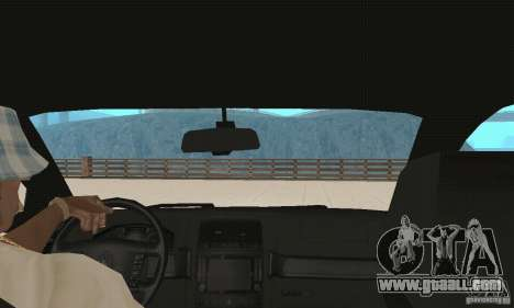 Volkswagen Touareg 2008 for GTA San Andreas inner view
